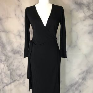 Diane von Furstenberg Vintage Black Wrap Dress 2